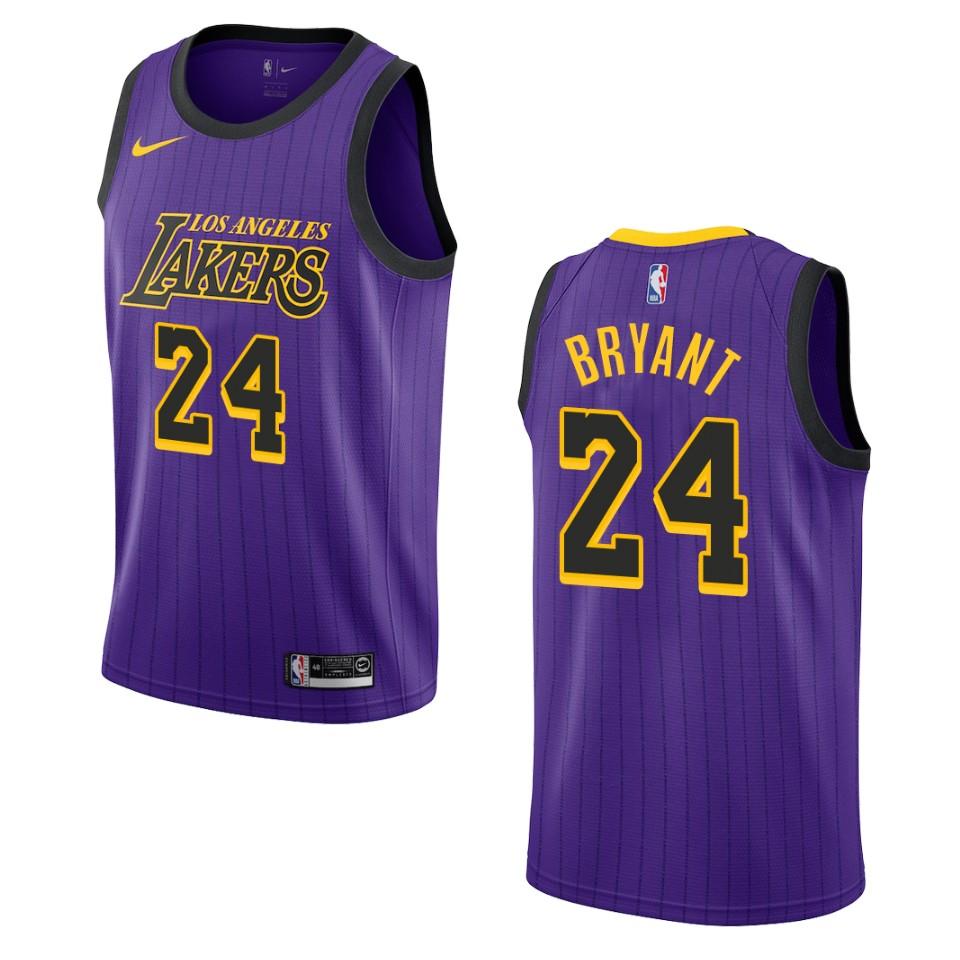 2019-20 Men Los Angeles Lakers #24 Kobe Bryant City Edition ...