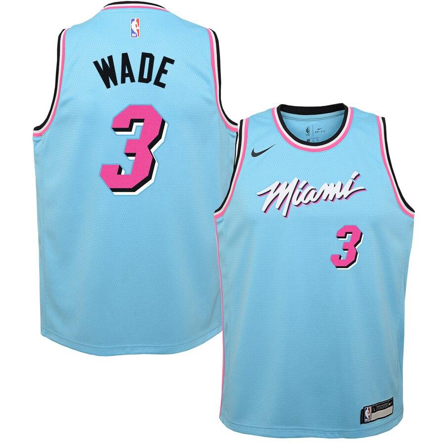 Dwyane Wade Miami Heat Nike Infant 2019 20 City Edition Replica Jersey Blue Nyjerseys Store