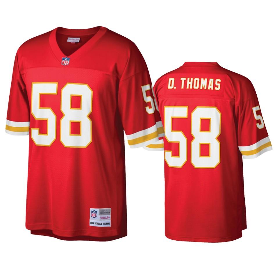 Kansas City Chiefs Derrick Thomas Red Legacy Replica Jersey ...