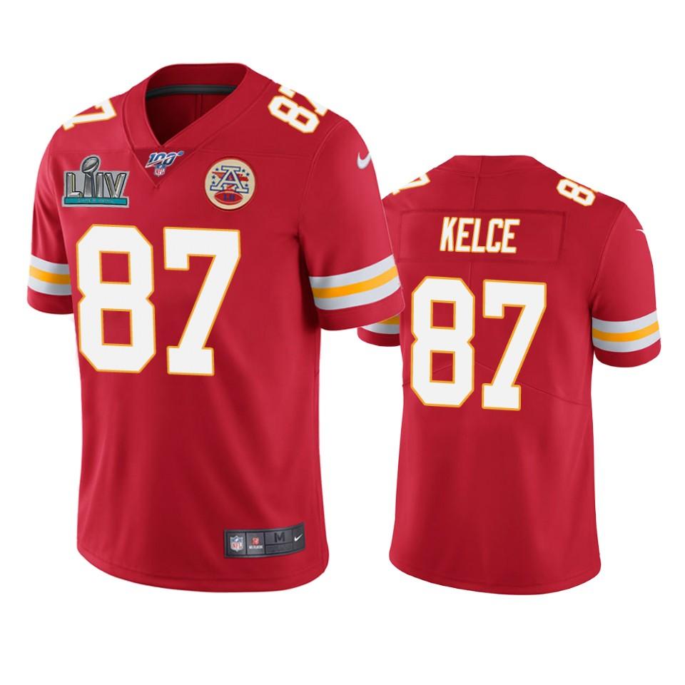 Kansas City Chiefs Travis Kelce Red Super Bowl LIV Vapor Limited ...