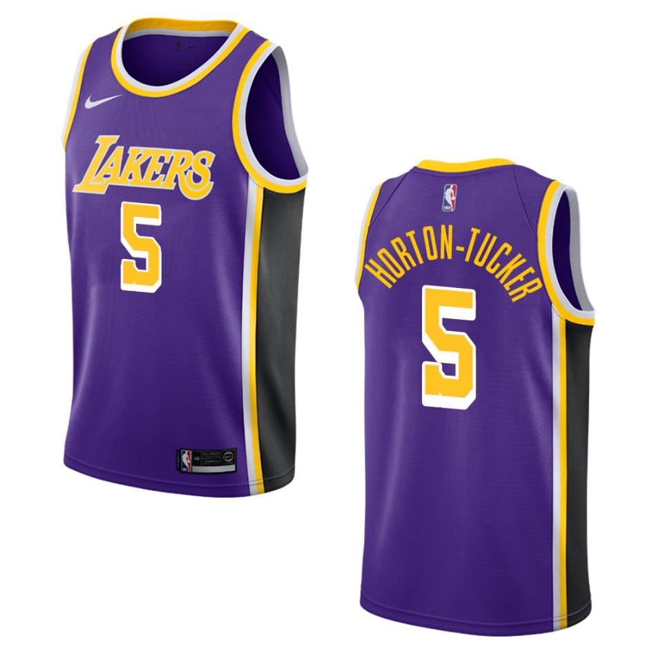Men's Los Angeles Lakers #5 Talen Horton-Tucker Statement Swingman ...