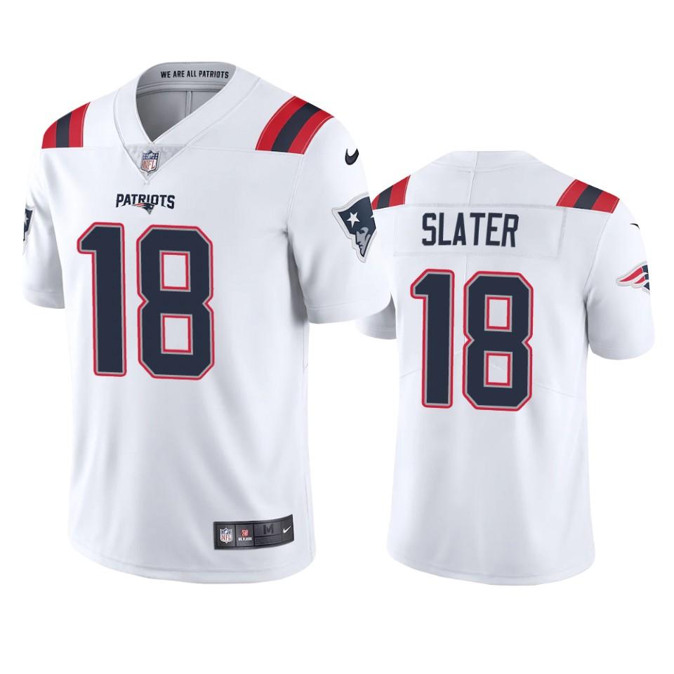 New England Patriots Matthew Slater White 2020 Vapor Limited ...
